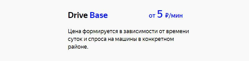 Каршеринг Яндекс Драйв тарифы