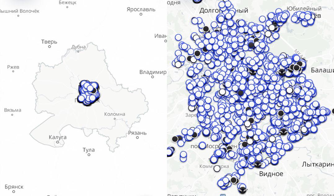 Яндекс Драйв карта